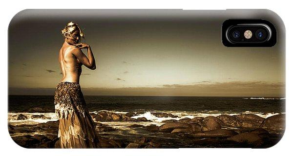 Dark Dramatic Fine Art Beauty IPhone Case