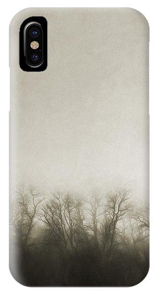 Treeline iPhone Case - Dark Foggy Wood by Scott Norris