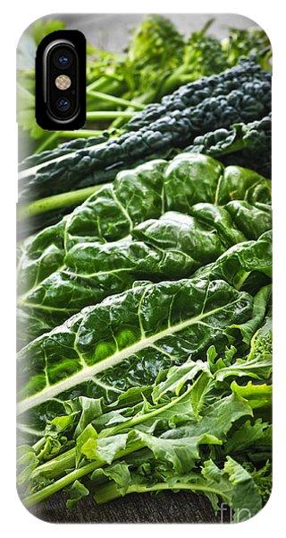 Broccoli iPhone Case - Dark Green Leafy Vegetables by Elena Elisseeva