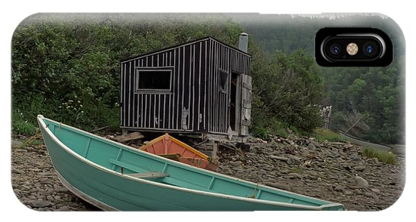 Dark Harbour Fisherman Shack And Boat IPhone Case