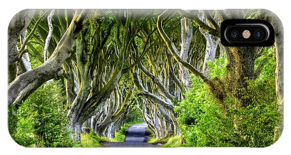 Dark Hedges IPhone Case