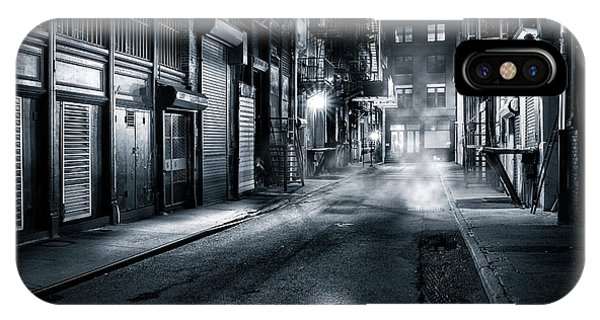 IPhone Case featuring the photograph Dark Nyc by Mihai Andritoiu