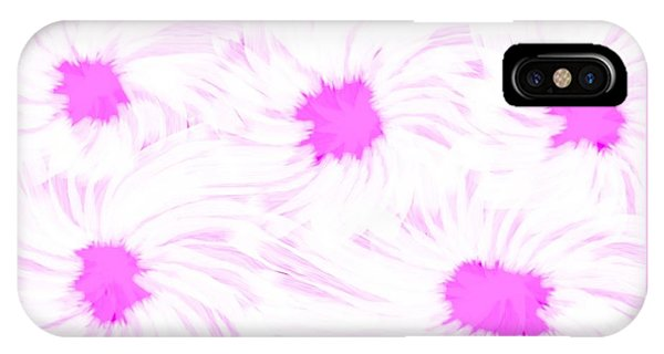 'dark Pink And White Flower Abstract' IPhone Case