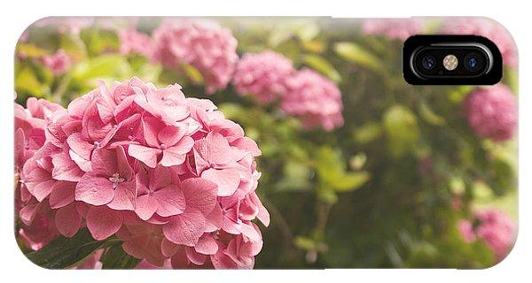Dark Pink Hydrangea IPhone Case
