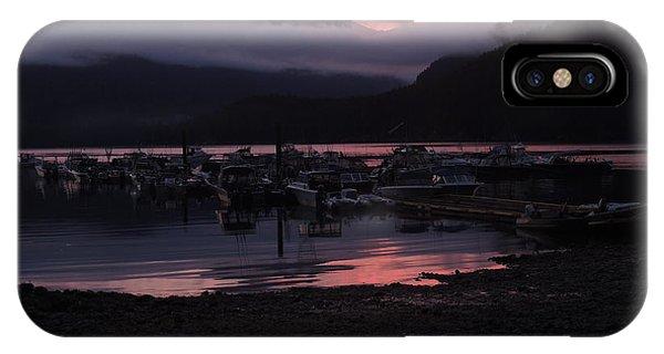Dark Pink Sunset IPhone Case