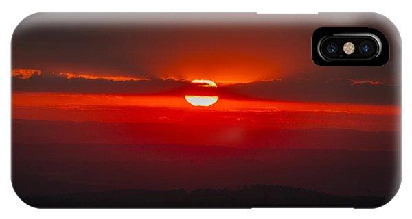 Dark Red Sun In Vogelsberg IPhone Case