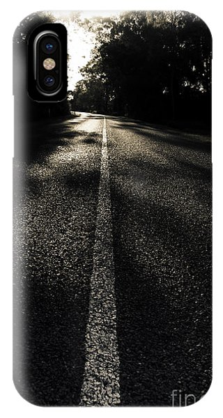 Commute iPhone Case - Dark Road Of Shadows by Jorgo Photography - Wall Art Gallery