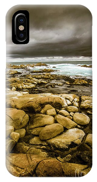 Maritime iPhone Case - Dark Skies On Ocean Shores by Jorgo Photography - Wall Art Gallery