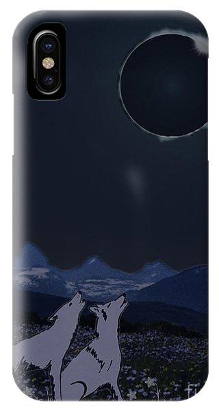 Dark Sky Eclipse Flare IPhone Case