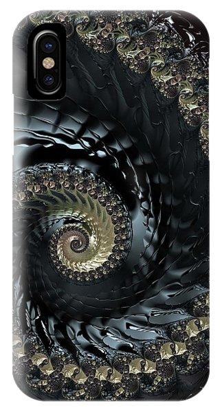 iPhone Case - Dark Spiral by Amanda Moore