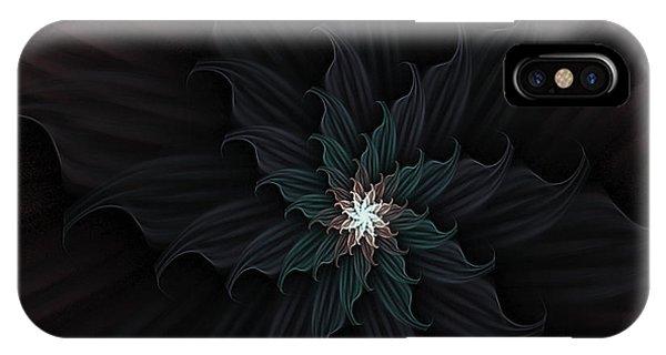 Dark Star Flower IPhone Case