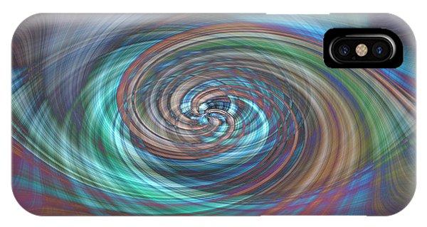 IPhone Case featuring the photograph Dark Swirls by Wanda Krack