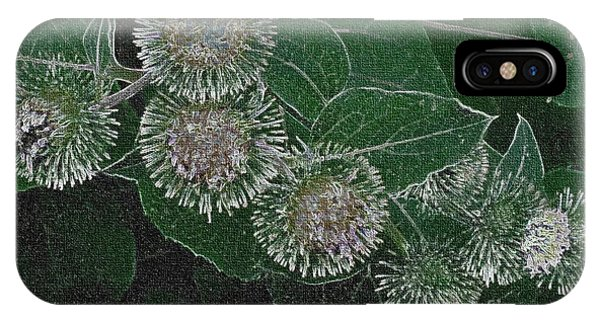 Dark Thistles IPhone Case
