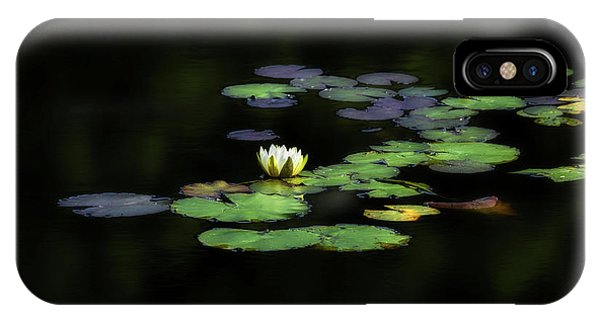 Lillie iPhone Case - Dark Water Lily by Bill Wakeley