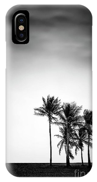Mono iPhone Case - Dark Winds Rising by Evelina Kremsdorf