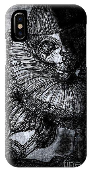 Dark Humor iPhone Case - Darkness Clown by Akiko Okabe
