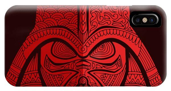 Darth Vader - Star Wars Art - Red 02 IPhone Case