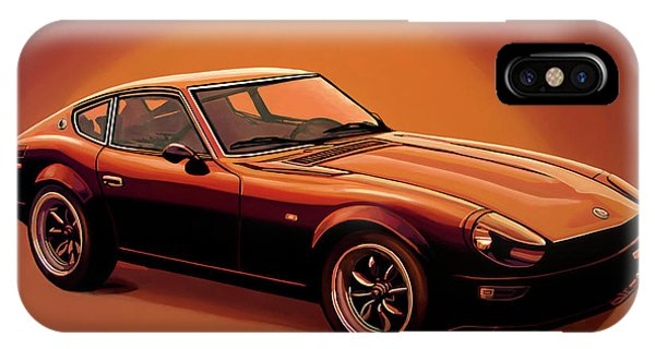 Elegant iPhone Case - Datsun 240z 1970 Painting by Paul Meijering