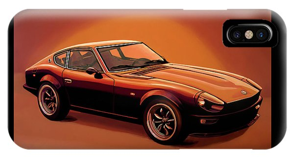 Vehicles iPhone Case - Datsun 240z 1970 Painting by Paul Meijering