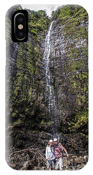 Dave And Elaine At Waimoku Falls IPhone Case