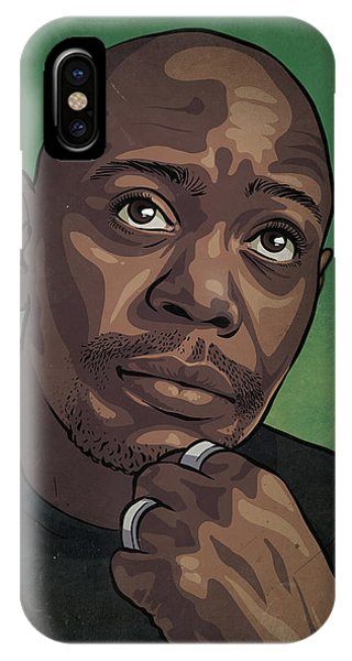 Illustration iPhone Case - Dave Chappelle by Miggs The Artist