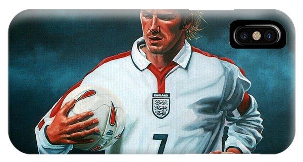 Blond iPhone Case - David Beckham by Paul Meijering