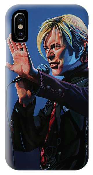 Popstar iPhone Case - David Bowie Live Painting by Paul Meijering