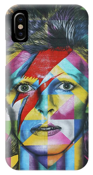 David Bowie Mural # 3 IPhone Case