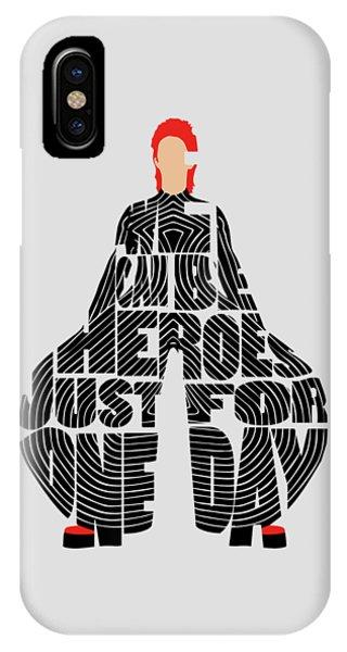 David Bowie Typography Art IPhone Case