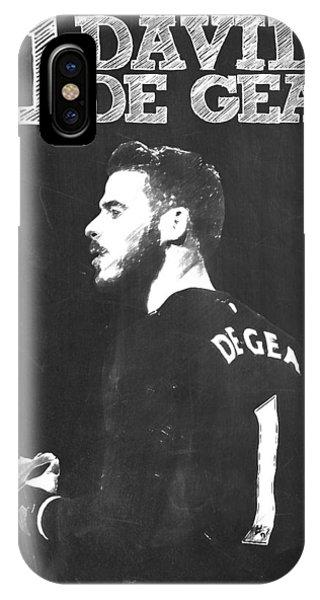 Wayne Rooney iPhone Case - David De Gea by Semih Yurdabak