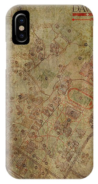 Davidson College Map IPhone Case