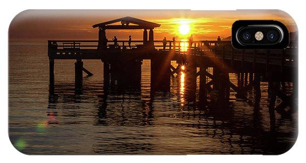 Davis Bay Pier Sunset IPhone Case