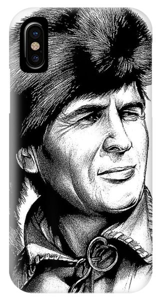 Hero iPhone Case - Davy Crockett by Greg Joens