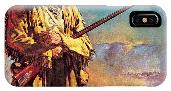 The Alamo iPhone Case - Davy Crockett  Hero Of The Alamo by James Edwin McConnell