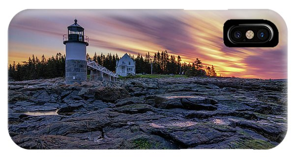 Dawn Breaking At Marshall Point Lighthouse IPhone Case