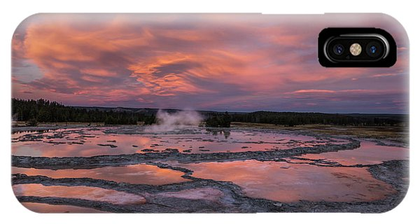 Dawn At Great Fountain Geyser IPhone Case