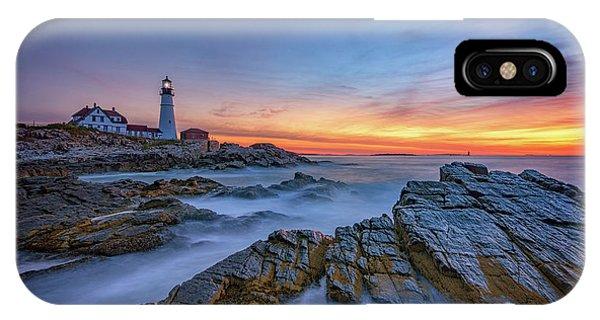 Navigation iPhone Case - Dawn At Portland Head Lighthouse by Rick Berk