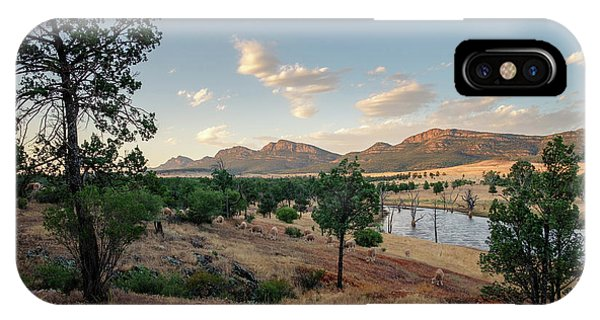 IPhone Case featuring the photograph Dawn At Rawnsley Park by Ray Warren