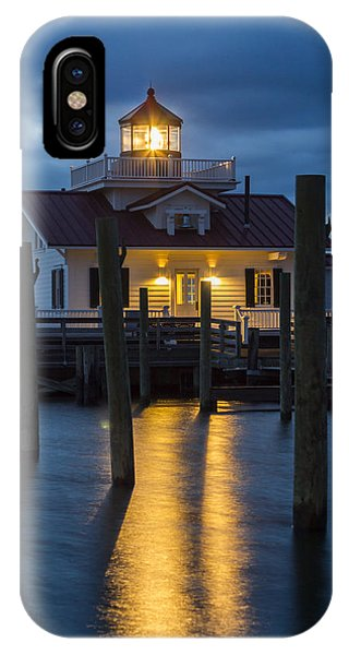 Dawn At Roanoke Marshes Lighthouse IPhone Case