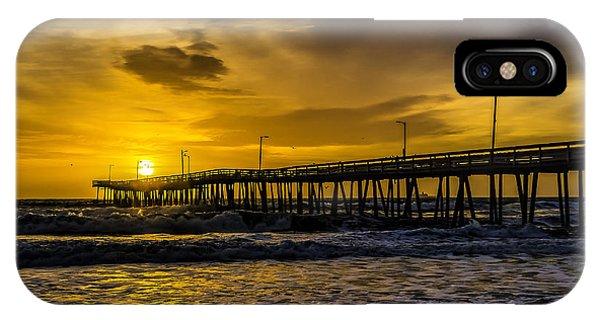 Dawn At The Virginia Pier IPhone Case