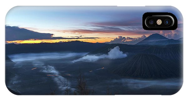 Dawn Breaking Scene Of Mt Bromo IPhone Case