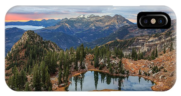 Dawn Glow At Silver Glance Lake. IPhone Case