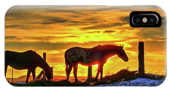 Dawn Horses IPhone Case