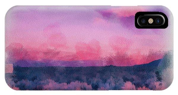 Dawn In Taos In Aquarelle IPhone Case