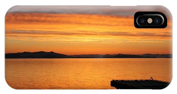 Dawn In The Sky At Dusavik IPhone Case