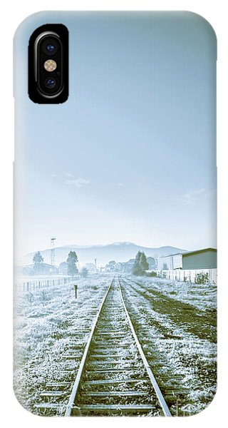 Track iPhone Case - Dawn Line by Jorgo Photography - Wall Art Gallery
