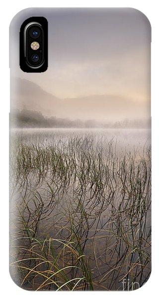 Beautiful Scotland iPhone Case - Dawn Mist - Loch Achray 2 by Rod McLean