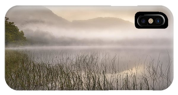 Beautiful Scotland iPhone Case - Dawn Mist - Loch Achray 1 by Rod McLean