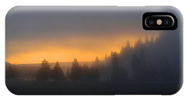 Dawn On A Misty Morning IPhone Case