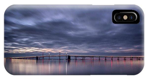 Chesapeake Bay iPhone X Case - Dawn On The Chesapeake by Robert Fawcett